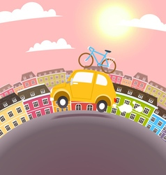 Town travel vector