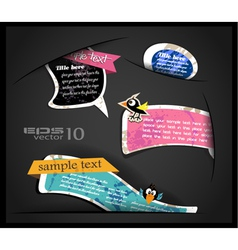 Cute Sticker Labels vector image