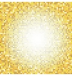 Abstract gold psychedelic art background vector