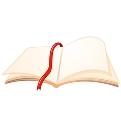 An empty book with a red bookmark vector image