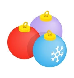 Balls for the Christmas tree icon vector image