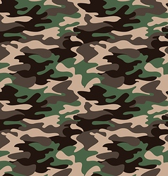 Camouflage pattern background seamless clothing vector image