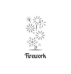 Firework company logo vector image vector image