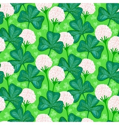 Floral pattern with clover flowers vector