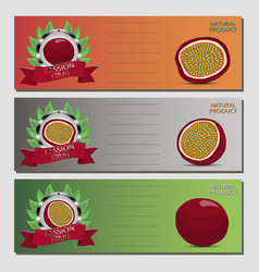 for ripe passion fruit vector image