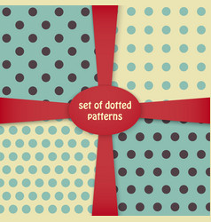 Four dotted colored patterns vector