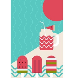 Fresh summer popsicle vector image