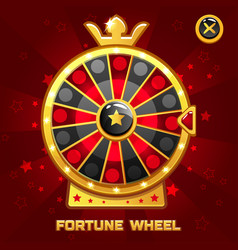 gold fortune wheel for ui game vector image