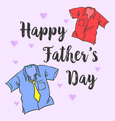 Greeting fro father day style collection vector