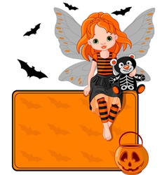 halloween fairy vector image