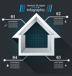 House abstract 3d icon business infographic vector