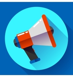 Megaphone Icon Viral marketing Flat vector image