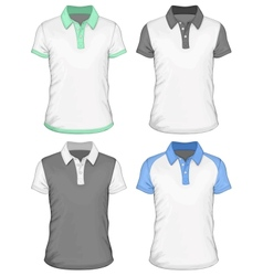 Mens polo-shirt design templates vector image vector image