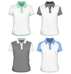 Mens polo-shirt design templates vector image