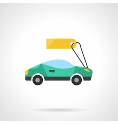 Sale of new cars flat color icon vector image vector image