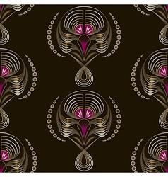 Seamless art deco modern pattern graphic ornament vector