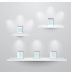 shelf3sizes vector image vector image