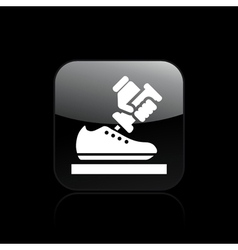 shoe icon vector image vector image