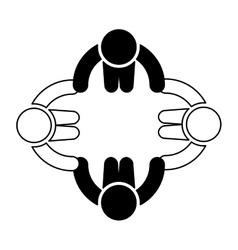 Teamwork silhouette symbol icon vector