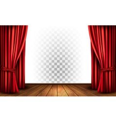 Theater curtains with a transparent background vector image vector image