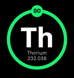 Thorium chemical element vector