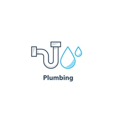 Tube and drop plumbing logo vector