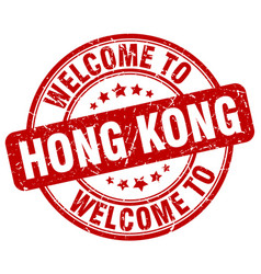 Welcome to hong kong vector