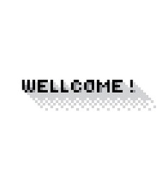 Wellcome vector image vector image
