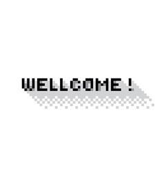 Wellcome vector image