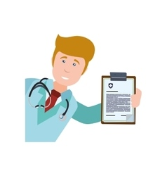 Doctor uniform stethoscope medical health care vector