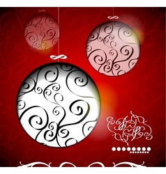 Creative christmas balls with calligraphic vector