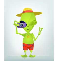 Cartoon character alien 035 cs5 vector