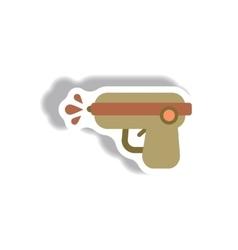 Stylish icon in paper sticker style water gun vector