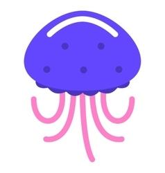 jellyfish marine sea flat vector image