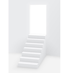 Stairs door vector