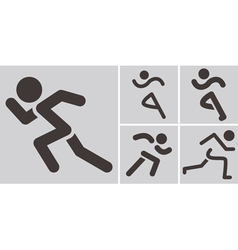 Running icons vector