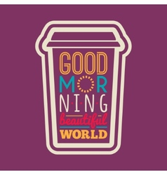 Good morning typography vector