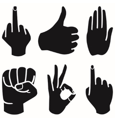 Human hand collection different hands gestures vector