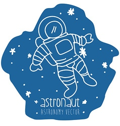 Astronaut drawn vector