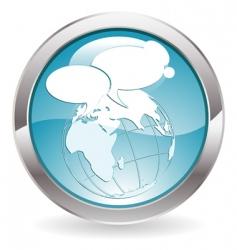 gloss button vector image