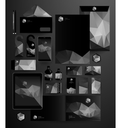 Abstract business set in hipster style vector