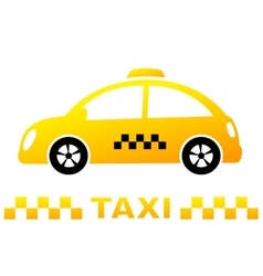 Cute taxi car and stripe vector