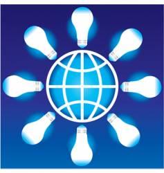 light bulb globe vector image