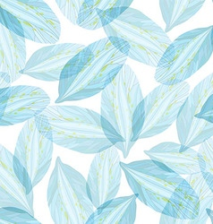 Seamless pattern with blue flower petal vector