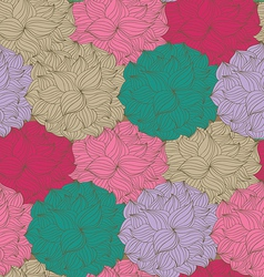 Seamless pattern with flowers vector
