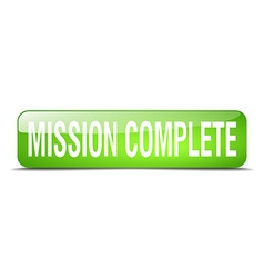 Mission complete green square 3d realistic vector