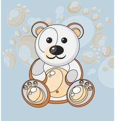 Cartoon teddy vector