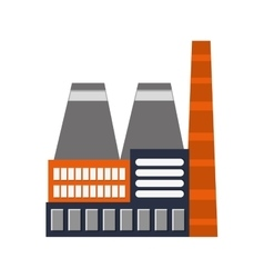 Factory industry industrial icon vector