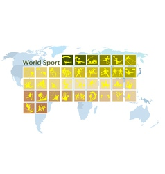 A Mega Set of 35 World Sport Icons vector image vector image