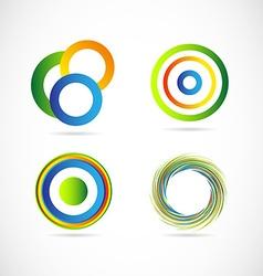 Abstract circle logo set vector image vector image
